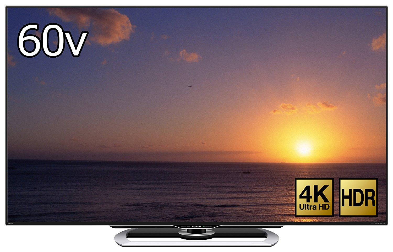アマゾンでシャープ 4K・60V型 液晶 テレビ AQUOS LC-60US40が154000円⇒146900円。