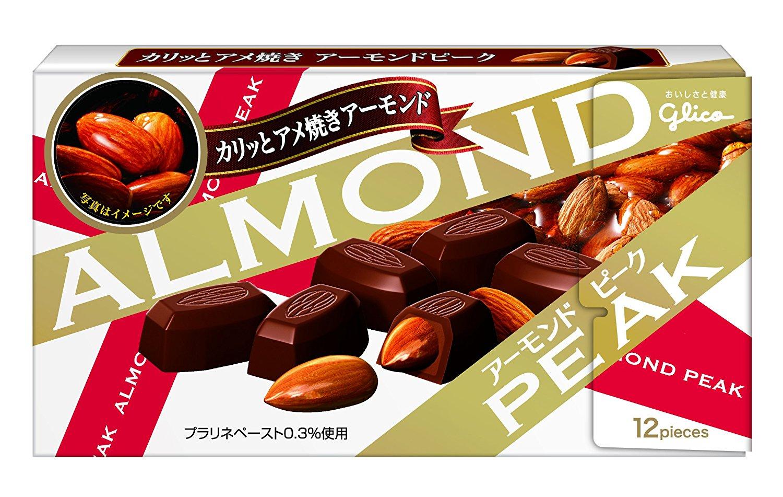 アマゾンで江崎グリコ アーモンドピーク 12粒×10個が1704円⇒1363円。