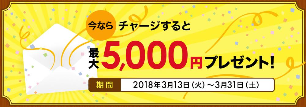 三井住友カードでdカードプリペイドにチャージすると、もれなく5000ポイントが貰える。~3/31。