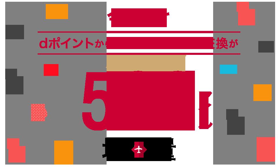 dポイントからJALマイルへの変換が500マイルアップの5000dポイント⇒3000マイルに増量中。~3/31。