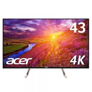 アマゾンでAcer 4Kモニターディスプレイ ET430Kbmiiqppx 43インチ/IPS/4K/5msが62800円⇒51953円。43インチ4Kとして相場より1万円安い。
