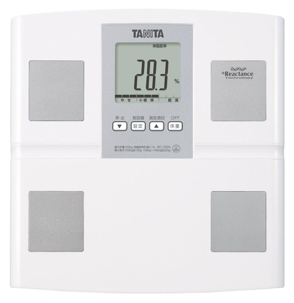 アマゾンタイムセールで売れ筋No1のタニタ 体組成計 BC-705N-WHが3480円⇒3131円。