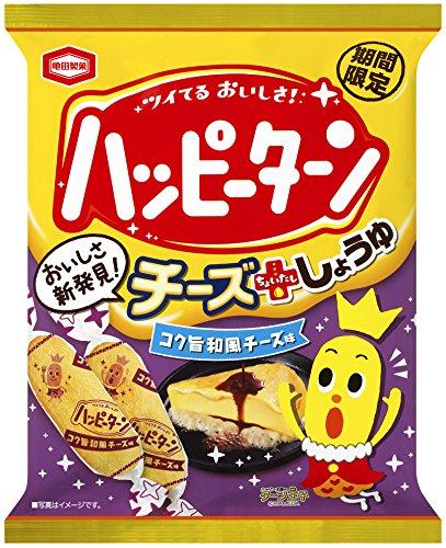 アマゾンで亀田製菓 ハッピーターンコク旨和風チーズ味 92g×12袋が2703円⇒1113円。1袋100円以下。