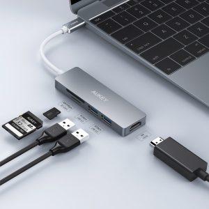 アマゾンでAUKEY USB Cハブ 4K HDMI+SD/microSD+USB 3.0X2ポート  CB-C72の割引クーポンを配信中。