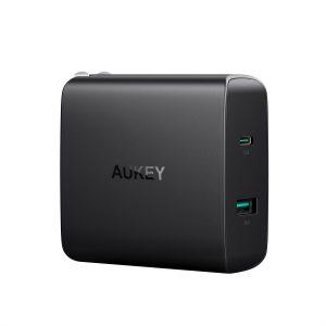 アマゾンタイムセールでAUKEY USB充電器 ACアダプター 46W USB Type-C Power Delivery 3.0 PA-Y10がセール中。
