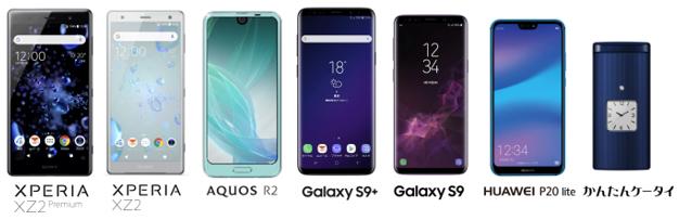 auが2018年夏モデル「Xperia XZ2 Premium」「Xperia XZ2」「AQUOS R2」「Galaxy S9+」「HUAWEI P20 lite」を発表へ。Galaxy S9シリーズは5/18より発売開始。