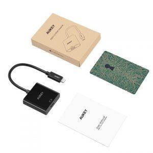 AUKEY 変換アダプタ USB C to HDMI【4K、1080P対応】 変換コネクタ type-c(ブラック)CB-C01の割引クーポンを配信中。