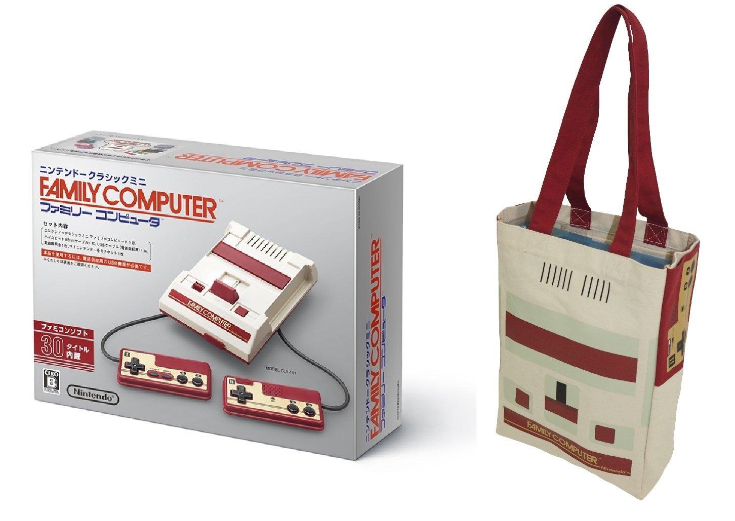 アマゾンでニンテンドークラシックミニ ファミリーコンピュータ+ファミコン トートバッグ が定価の9158円で予約受付中。7/4~。バッグはヤフオクで売ろう。