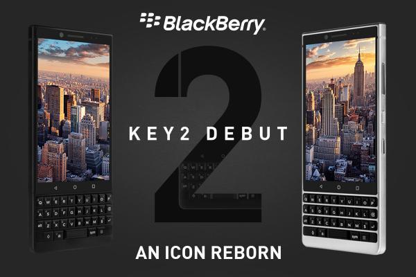 BlackBerry KEY2が79800円から発売へ。4.5インチ/物理キー/SD660/RAM6GB/64GB/デュアルカメラ12MP+13MP。今夏発売へ。