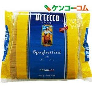 楽天スーパーDEALでディチェコ スパゲッティーニ No.11(5kg)が実質1355円、500g換算で136円。