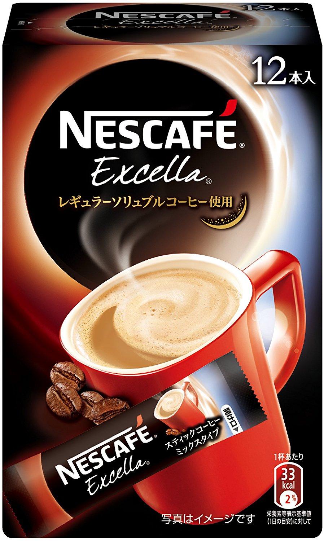 アマゾンでネスカフェ エクセラ スティックコーヒー 12P×6箱が1354円⇒651円。1箱108円。