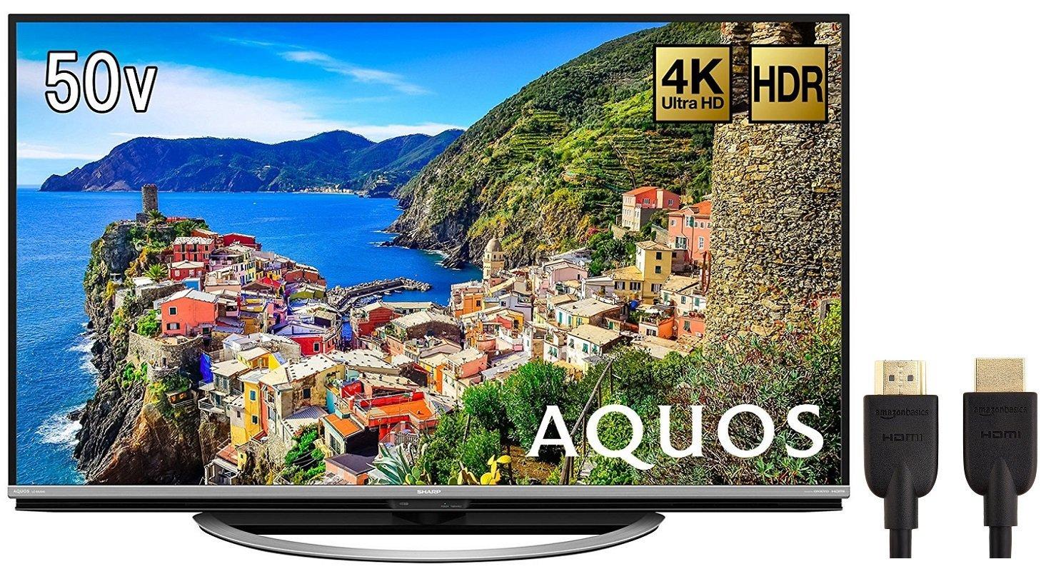 アマゾンでシャープ 50V型 4K対応液晶テレビ AQUOS LC-50US45が特選タイムセール。