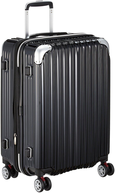 アマゾンでSiffler(シフレ)[トライデント] ハードジッパースーツケース Mサイズ 68.0Lがポイント32%、更に35%OFFで22420円⇒。実質9909円。