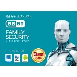 NTT-XストアでESETファミリーセキュリティ5台3年版が3980円。