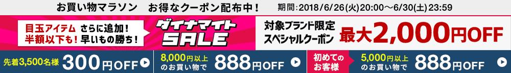 楽天ブランドアベニューで300円~888円OFFクーポンを配信中。