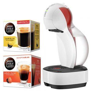 アマゾンでネスカフェ ドルチェグスト カラーズ ホワイト NDG355-WHと専用カプセルセットの割引クーポンを配信中。