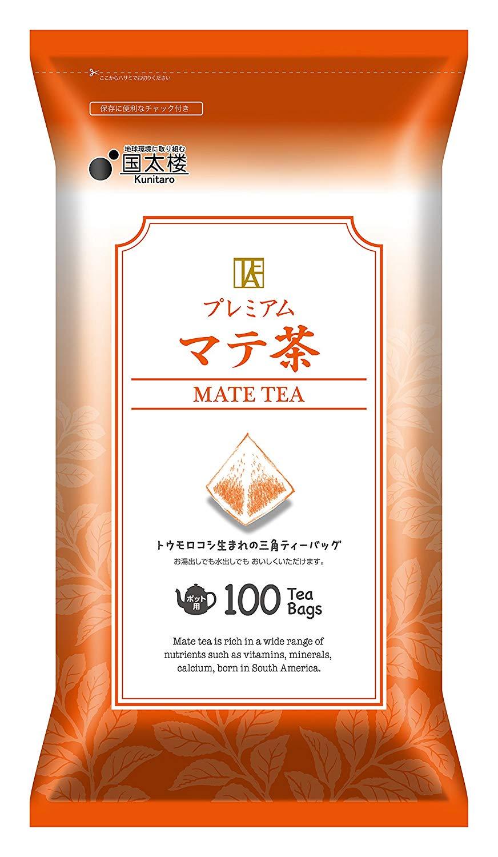 アマゾンで 国太楼 プレミアムマテ茶 ティーバッグ 100Pが1780円⇒1246円。