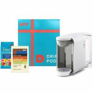 アマゾンでUCC ドリップポッド コーヒーマシン+コーヒー&ティーセットBOX DP2シリーズが1万円から半額クーポンを配信中。