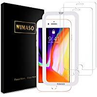 アマゾンで評価高めのiPhoneX/iPhoneXS用、Nimaso iPhone8 / iPhone7 用 強化ガラス液晶保護フィルム【2枚セット】がタイムセール中。