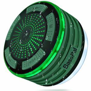 アマゾンでエイリアンカラーのBassPal Bluetoothスピーカー ワイヤレス風呂スピーカーの割引クーポンを配信中。