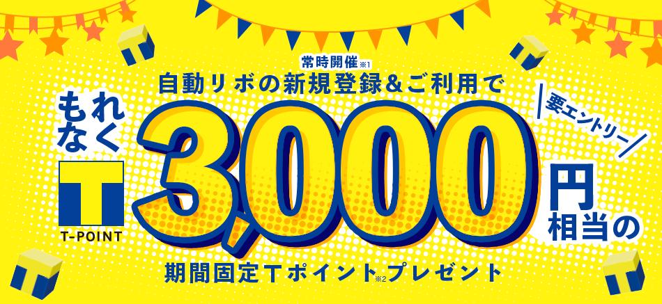 Yahoo!JAPANカードで自動リボ払い新規登録&うまい棒10円を1本だけ買うともれなく3000Tポイントが貰える。最低利用金額なし。