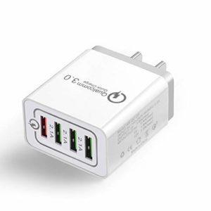 アマゾンでUSB充電器 急速充電 4USBポート  QC3.0ノンブランド品が299円送料無料。