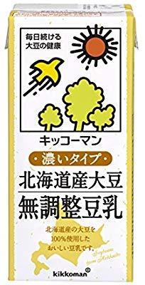 アマゾンでキッコーマン飲料 北海道産大豆 無調整豆乳 1L×6本がタイムセール中。