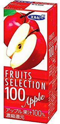 アマゾンでエルビー フルーツセレクション アップル100% 200ml×24本がタイムセール中。