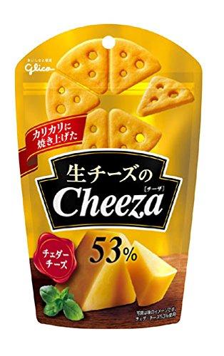 アマゾンで江崎グリコ 生チーズのチーザ チェダーチーズ 40g×10個がタイムセール中。