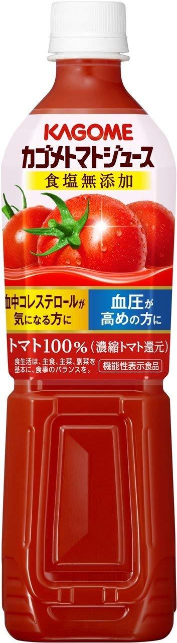 アマゾンでカゴメ トマトジュース食塩無添加 スマートPET 720ml×15本[機能性表示食品]がセール中。