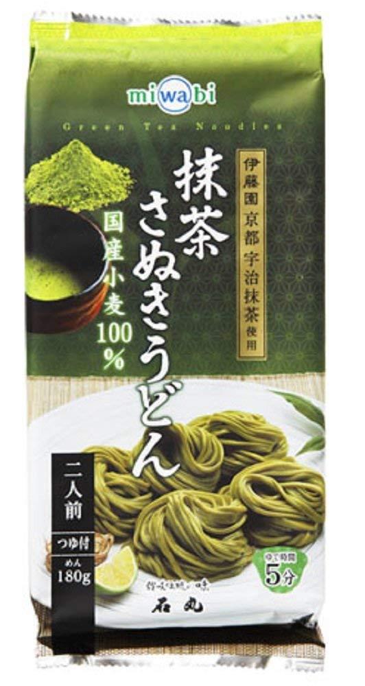 アマゾンで見た目が不味そうな「miwabi 抹茶さぬきうどん 220g(めん180g、つゆ20ml×2)×15個」が5400円⇒1694円、1個113円。