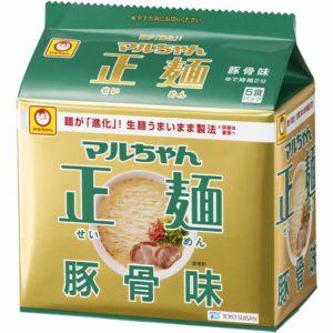 アマゾンでマルちゃん正麺豚骨味 5P×6個の半額クーポンを配信中。