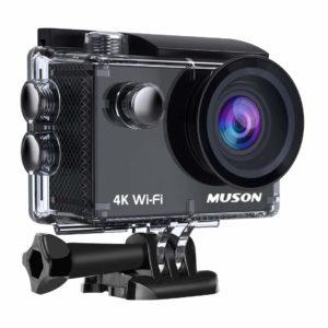 アマゾンで【4K高画質】MUSON(ムソン) アクションカメラ 4K WiFi搭載 1600万画素 SONYセンサー 30M防水 170度広角レンズがタイムセール中。