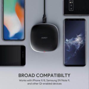 アマゾンでAUKEY ワイヤレス充電器 Qi 10W 無線チャージャー LC-Q6の割引クーポンを配信中。
