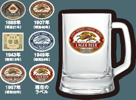 キリンラガービールを買うと、ラガー歴代ラベルジョッキセットやラガーファンが選ぶ本格食材カタログが合計1000名に当たる。~1/11。