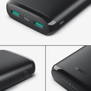 アマゾンでAUKEY モバイルバッテリー 20000mAh Micro/Lightning入力 PB-N65の割引クーポンを配信中。