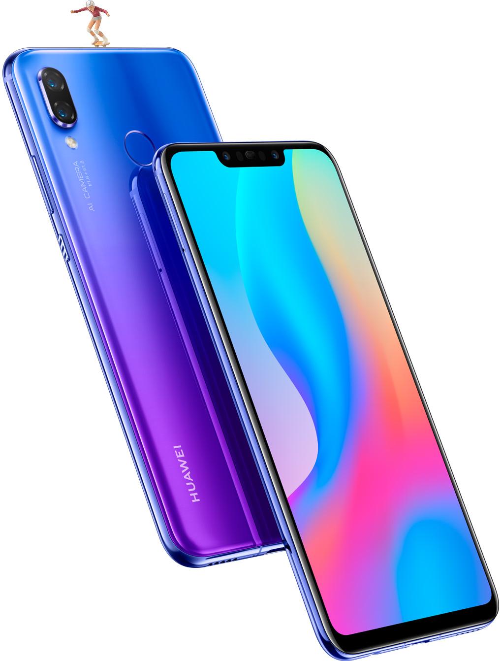 ファーウェイ・ジャパンがグローバルに遅れること3ヶ月、Huawei nova3を国内発売へ。10/5~。OCNモバイルONEでいきなり1万円引き。10/3 11時~。
