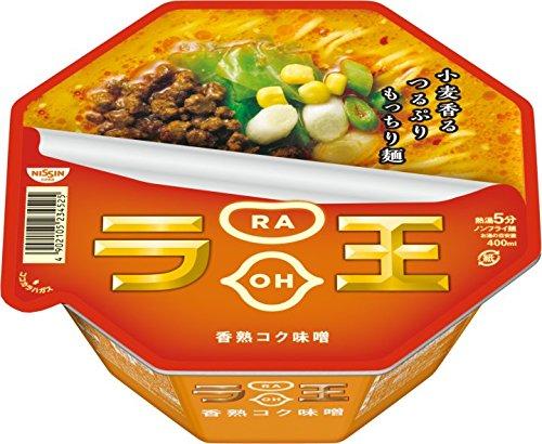 アマゾンで日清ラ王 香熟コク味噌 122g×12個がタイムセール中。