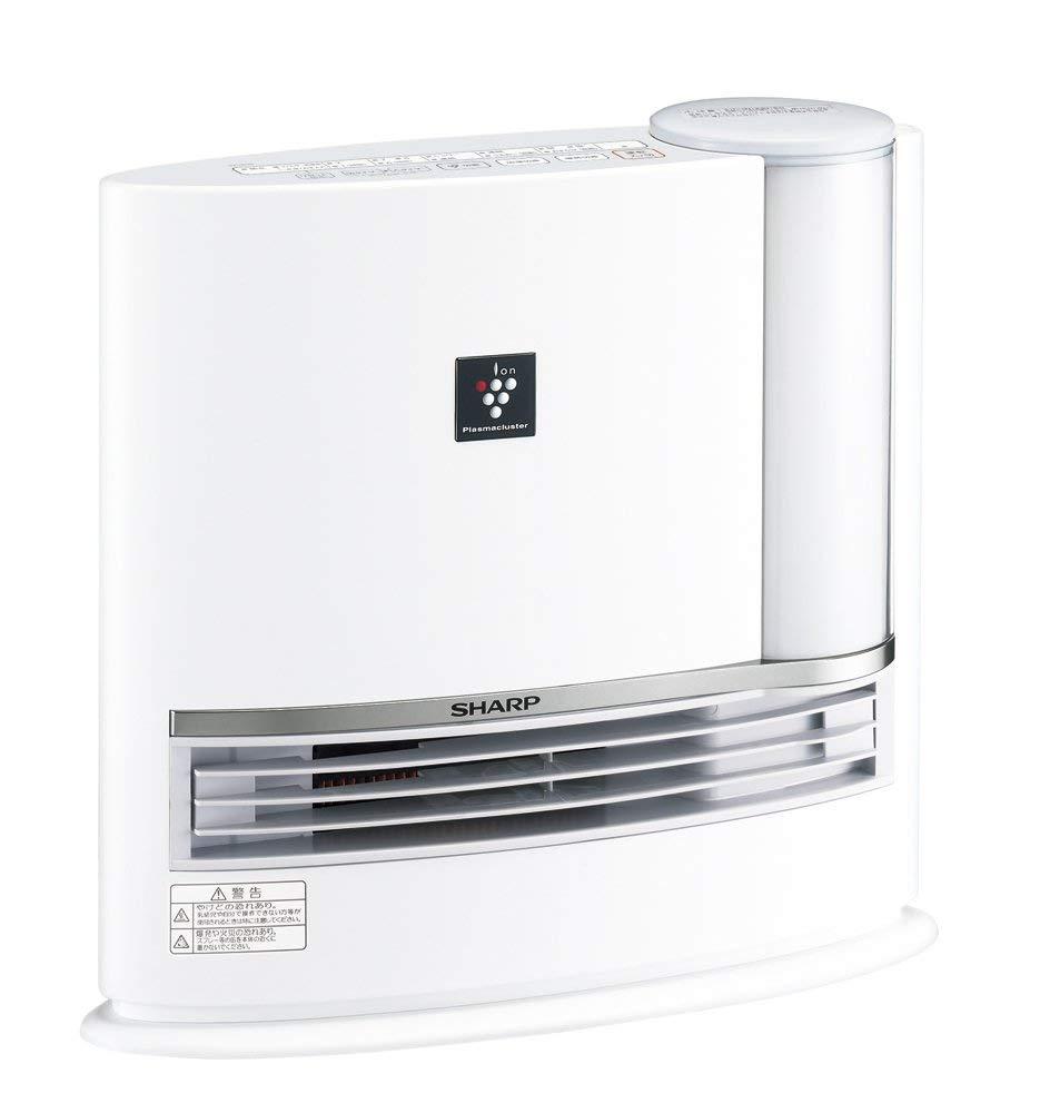 アマゾンでシャープ プラズマクラスター搭載 加湿セラミックファンヒーター ホワイト HX-G120-Wがタイムセール。