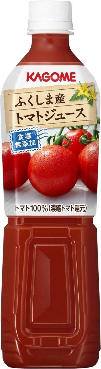 アマゾンでカゴメ ふくしま産トマトジュース食塩無添加 スマートPET 720ml×15本がタイムセール中。
