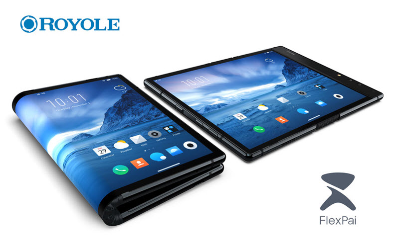 中華メーカーのRoyoleが世界初、折り畳めるスマホ「FlexPai」を発売へ。ただし実用性はあまりない。