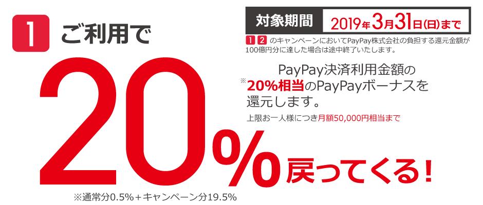 ビックカメラがPayPayに対応へ。20%ポイントバック、更に40回に1回は全額ポイントバック。ビックポイントも8%付与で合計28%バックへ。Kyashで更に2%で合計3割引。12/4 9時~。