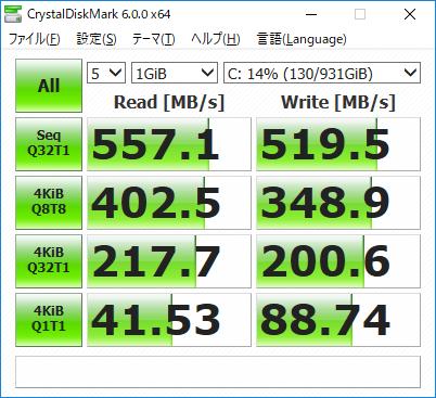 サムスンのSSDの1TBに買えたらWriteの速度が224MB/s⇒519MB/sの2倍速になった話。ブログを書くだけなので体感速度は変化なし。