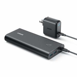 アマゾンでAnker PowerCore+ 26800 PD (Power Delivery対応 26800mAh モバイルバッテリー)+充電器セットがセール中。