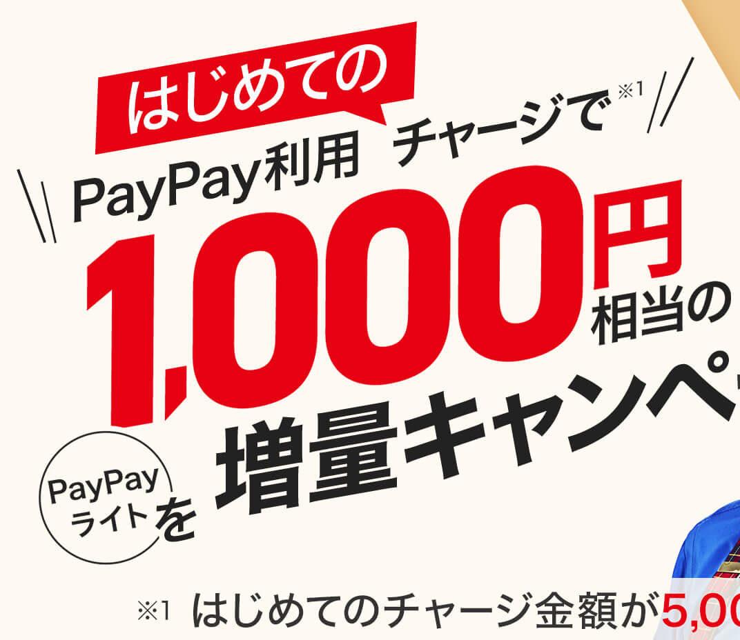 ソフトバンク系キャッシュレス決済PayPayで5000円チャージで1000円バック、一定割合で全額バックなど。PayPalじゃないよ。~2/12 8時。