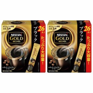 アマゾンでネスカフェ ゴールドブレンド スティック ブラック 26P×2箱が割引セール&クーポン配信中。