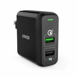 アマゾンタイムセールで「Anker PowerPort 2 Quick Charge 3.0 (31.5W 2ポート USB急速充電器)」が2299円⇒1839円で投げ売り中。