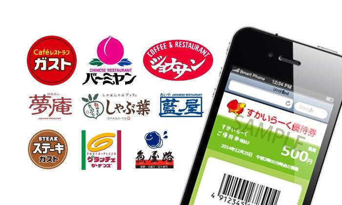 グルーポンで対象者限定、すかいらーくご優待券500円分が250円で販売中。