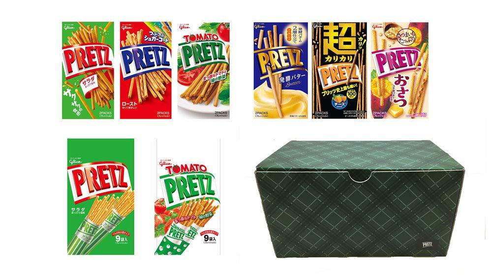 アマゾンで江崎グリコ プリッツ 6種アソート全8個 ストックボックス入り 1箱がセール中。