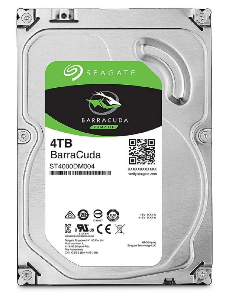 """アマゾンでSeagate BarraCuda 3.5"""" 4TB 内蔵ハードディスク HDD がセール中。"""